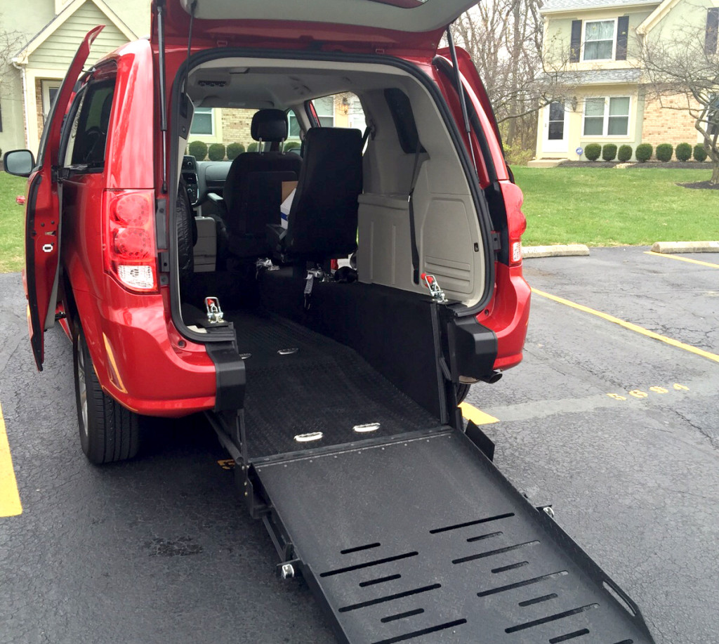 red van with ramp