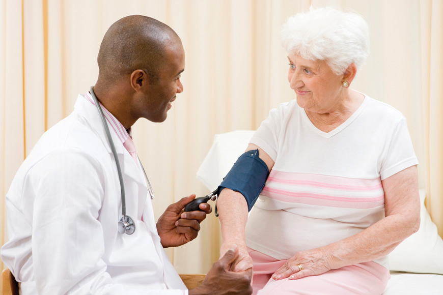 old woman having a consultation with her doctor